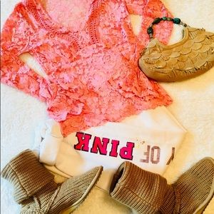 Moda Pink Lace Too by Victoria's Secret